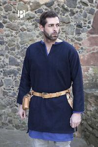 Medieval Tunic Viking Wool/ Larp - Blue By Burgschneider