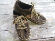 Polo Sneaker Mens 11.5 Herringbone Ralph Lauren Pony worn brown WW