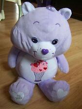 "Jumbo 26"" Share Bear Care Bear Milkshake /Tummy Purple 25th Anniversary Euc"