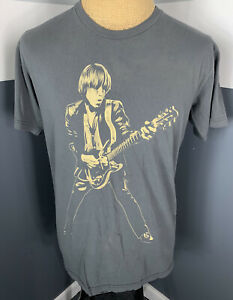 American Apparel Tom Petty & The Heartbreakers Tshirt Tour Concert Band Gray Lg