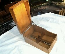 Antique Oak Card File Brass Guide Finger Jointed