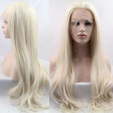 """Lange Straight White Lace Front Perücke Hitzebeständiges Synthetisches Haar 24"""""""