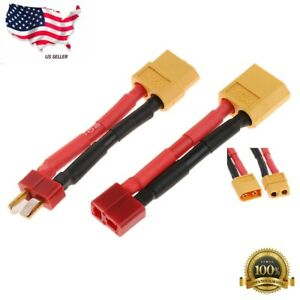 RC XT60 to Deans Plug Male/Female T Connector Adapter Car Plane Lipo Battery