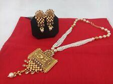 Indian Fashion Jewelry Pendant set Bollywood ethnic Gold plated Mala Pendant Set
