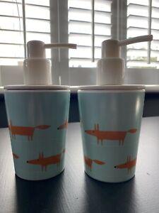 MR Fox Scion Soap Dispensers, X 2