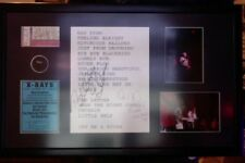 DAN AYKROYD BUDDY GUY SIGNED JOE COCKER SET LIST FRAMED w/ PICK & PHOTOS 1 OF 1