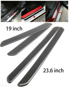 4x Door Sill Carbon Fiber Car Scuff Plate Cover Panel Step Protector For Ford UK