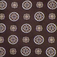CANALI Brown Beige Ivory GEOMETRIC Woven Silk Tie EUC