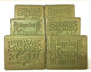 6 Stück Original Alepposeife Gewürzseife aus Olivenöl-Lorbeeröl-Honig ++