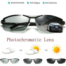 Photochromic Polarized Sunglasses Mens Outdoor Driving Fishing UV400 Glasses