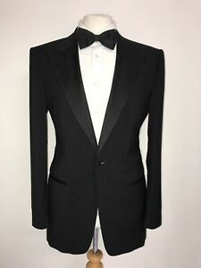HUGO BOSS - Mens BLACK WOOL DINNER SUIT - 40 Reg - W34 L31 - GORGEOUS TUXEDO