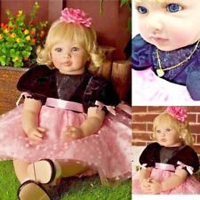 Realistic Dolls Reborn Baby Doll Blonde Toddler Girl Lifelike Toys Babies Gifts