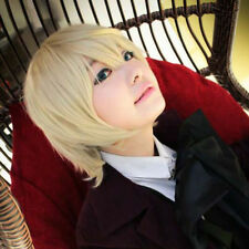 Anime Wig Cosplay Butler Alois Trancy Costume Short Straight Hair Blonde Bob Wig
