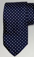 NWOT Prada Mens D Blue Textured Geometric Design Silk Tie