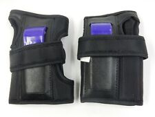 NEW BAUER PRECISION IN-LINE WRIST GUARDS ~ PURPLE AND BLACK ~ SIZE: ADULT LARGE