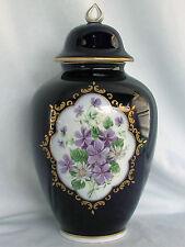 Deckel Vase Amphore echt Kobalt Wallendorf W 1764 Porzellan Topzustand