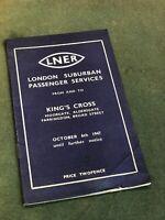 LNER London Suburban Passenger Services Kings Cross 1947