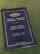 More details for lner london suburban passenger services kings cross 1947