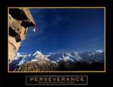 Rock Climbing PERSEVERANCE (Cliffhanger) Motivational Inspirational Poster Print