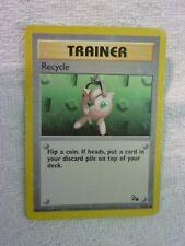 Carte pokémon trainer recycle 61/62 commune fossile carte usée carte anglaise