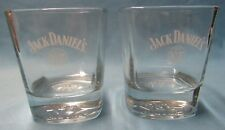 TWO JACK DANIEL'S OLD NO. 7 BRAND LOW BALL 8 OZ. WHISKEY DRINKING GLASSES