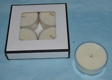 4 x Hand-poured 'Sumari Blue' Soy Candle Maxi Tealights - Singapore Orchid