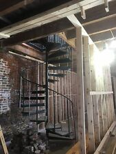 "Steel Spiral Staircase, Black,11 ' 7""- floor to floor."