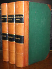 1860's The Complete Works Of William Shakespeare Half Leather Illustrated Large