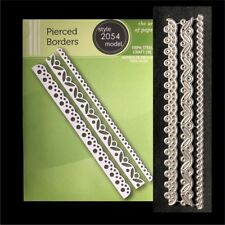 Pierced Borders metal die Poppystamps cutting dies 2054 3 PC border scallop dots
