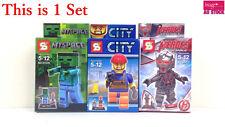 3pcs Minifigure Set My Space City Heroes Assemble Mini Building Figure Toys