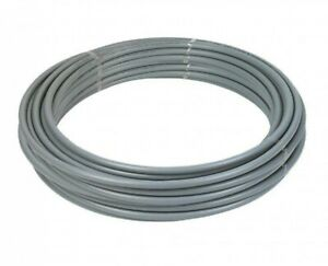 2 X Polypipe PolyPlumb PB5022B 22mm X 50m Coil Barrier Pipe - Grey