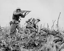 8x10 Photo-Okinawa- Marine Draws  Bead on a Japanese Sniper with his Tommy-Gun