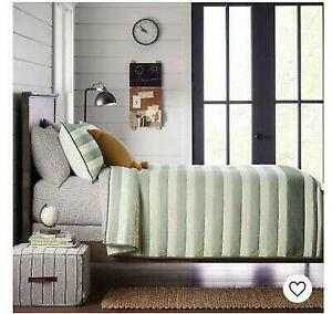 Kids Engineered Stripe Green TWIN QUILT & SHAM SET Hearth & Hand with Magnolia