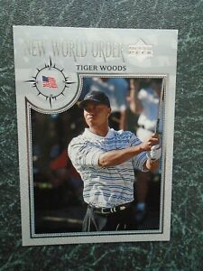 upper deck golf 2002 TIGER WOODS card #61 new world order silver parallel card
