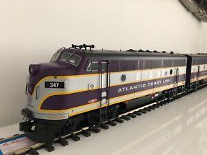 usa trains g gauge R22253 Atlantic coast line f-3 a b units # 347 347b