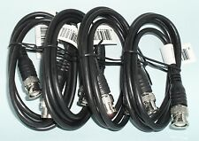 Four 3ft BNC to BNC Male RG58/U 50 Ohm Coax Cables