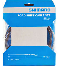 Genuine Shimano Road Gear Shift Cable Set Inner & Outer Cable, Black