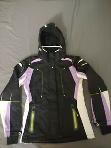Killtec women's hooded Level 10 ski jacket Tech line Sz 10 waterproof windproof
