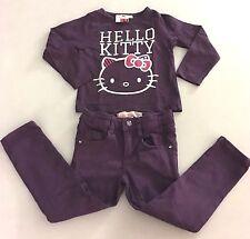 HELLO KITTY Tee-shirt Aubergine + Pantalon Slim LISA ROSE Violet 2 Ans TBE