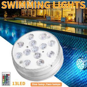 6x Swimming Pool Submersible LED Pond Lights Hot Tub RGB Underwater SPA Lamp UK