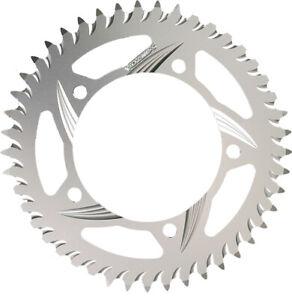 Standard Rear Aluminum Sprocket Silver 44T Vortex 435-44 For 84-14 Kawa Suz Yam
