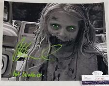 Addy Miller 8x10 Autographed Photo JSA Signed The Walking Dead Teddy Bear Girl 9