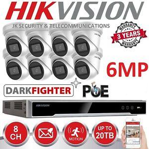 HIKVISION DARKFIGHTER 6mp KITS 3, 4, 5, 6, 7, 8, 10, 12, 14 OR 16 3yr warranty
