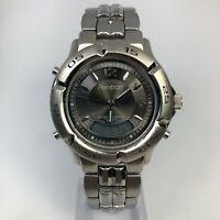 Armitron 1443 Men's Alarm Chronograph Base Metal Bezel Dual Digital Analog Watch