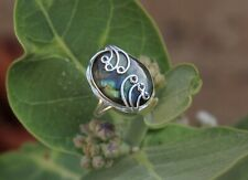925 Sterling Silver Labradorite Oval Shape Designer Authentic Handmade Rings