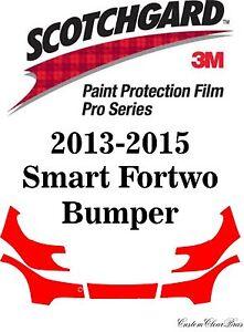 3M Scotchgard Paint Protection Film Pro Series Kits 2013 2014 2015 Smart Fortwo