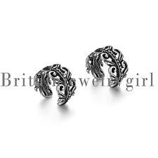 2pcs Vintage Carved Swirls Stainless Steel Non Piercing Ear Cuff for Men Women