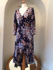 NWOT UK10-12 VERO MODA Floral Print Asymmetrical Wrap Dress Kimono Bell Sleeve