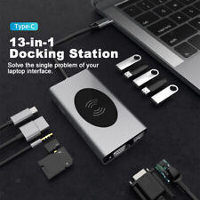13 in 1 USB C Hub mit HDMI & VGA, PD3.0, Ethernet, SD/TF Kartenleser, 5USB Port,