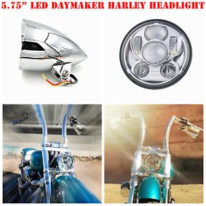 """5.75"""" Chrome alloy LED daymaker headlight Harley SPRINGER FLSTS Heritage FXSTS"""